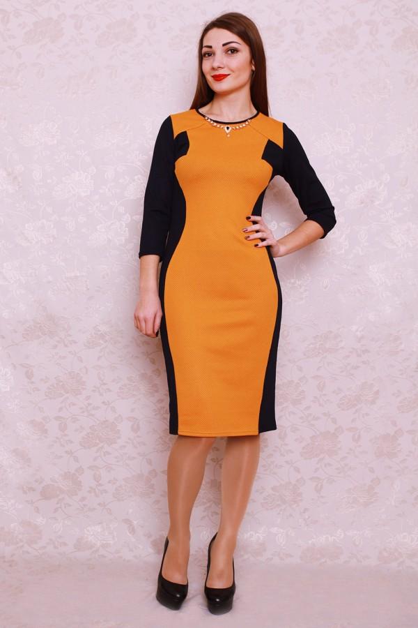 Платье 403 горчица