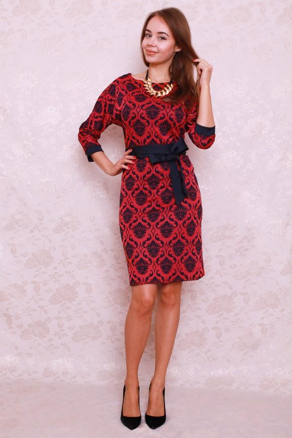 Платье 405 красный