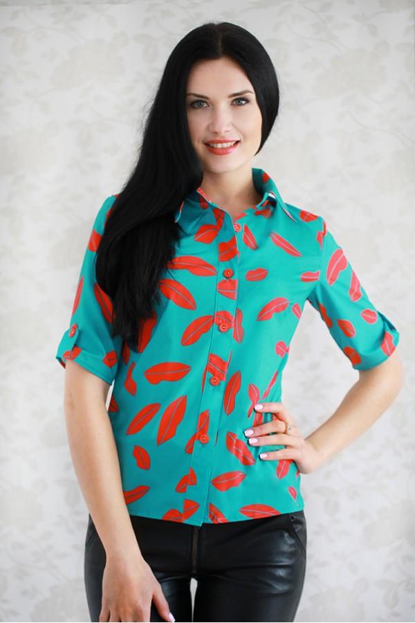 Рубашка 317 светло-зелёный