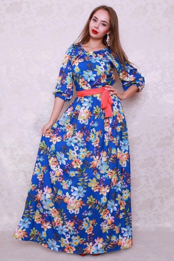 Платье 438 электрик