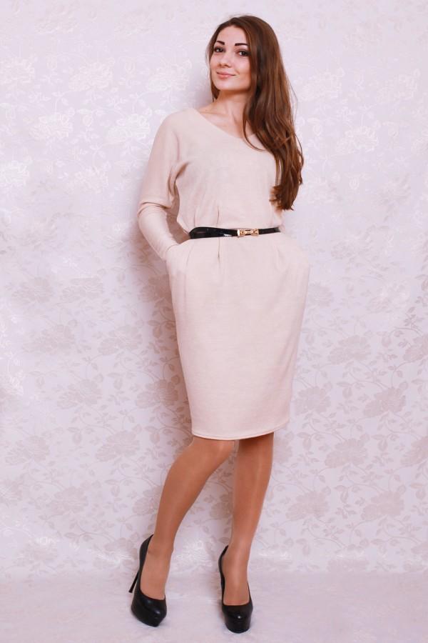 Платье 378 бежевый