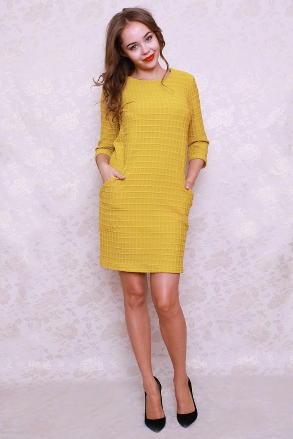 Платье 429 горчица