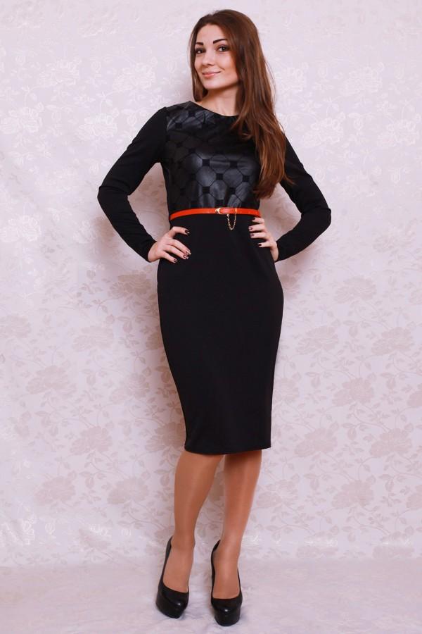 Платье 398 чёрный/ромбики