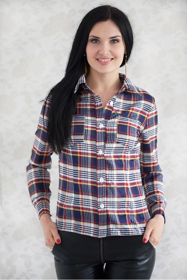 Рубашка 309 синий