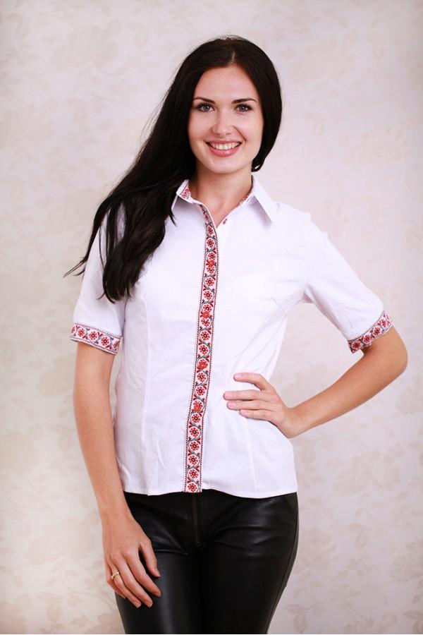 Плаття 350 білий / червоний візерунок