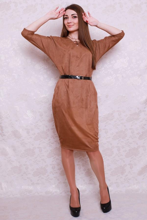 Платье 418 бежевый