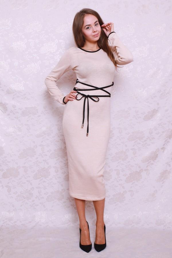 Платье 377 бежевый