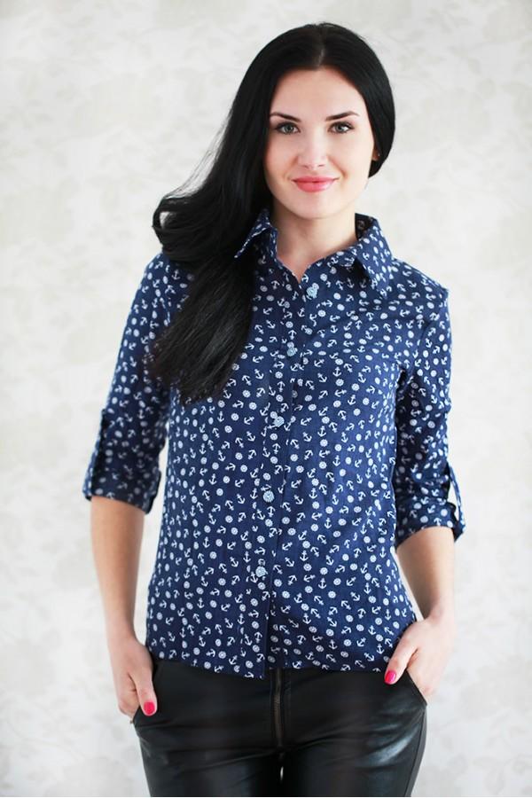 Рубашка 441 тёмно-синий