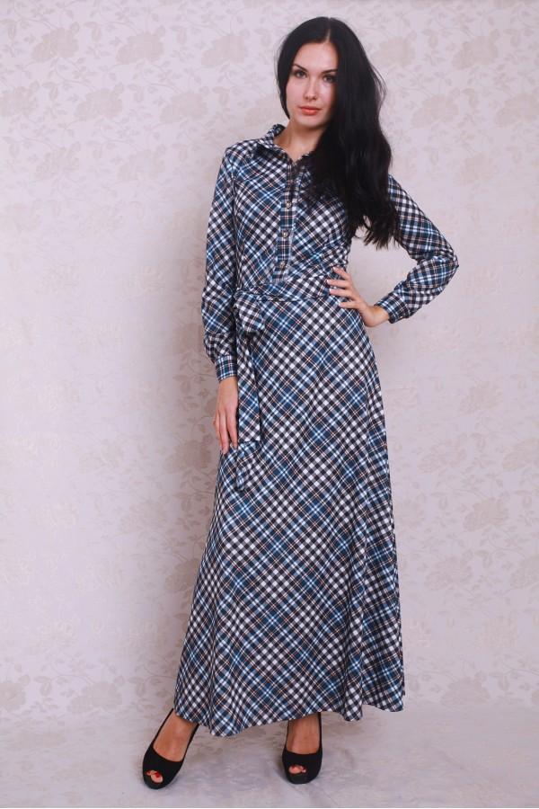 Платье 373 синий