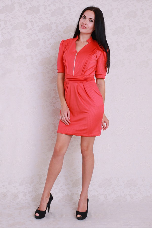 Платье 357 коралл