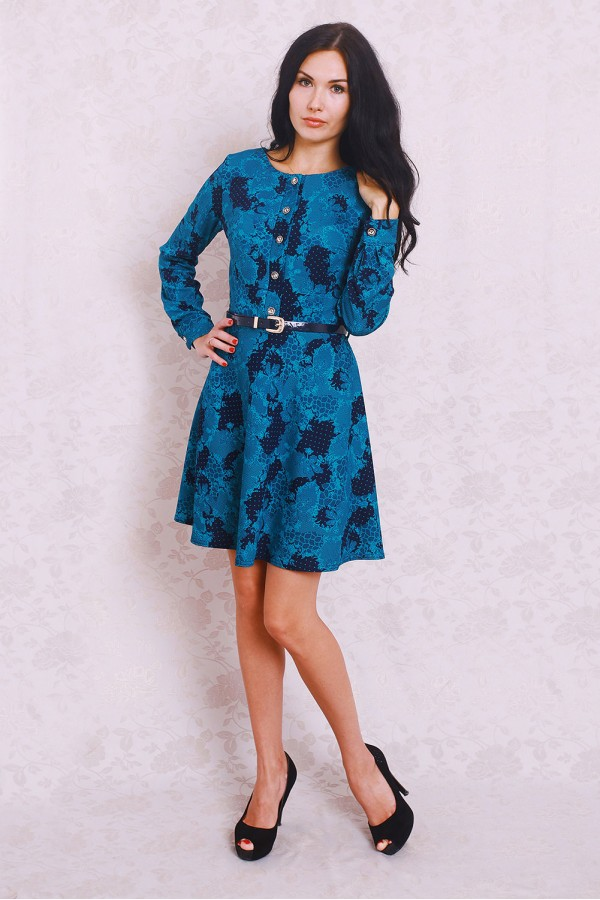 Платье 364 синий