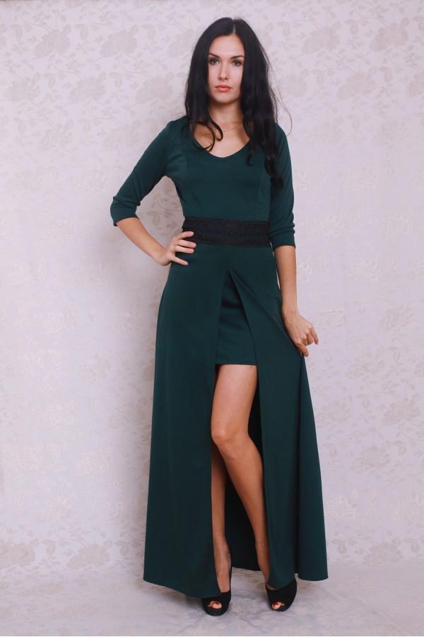 Плаття 372 темно-зелений