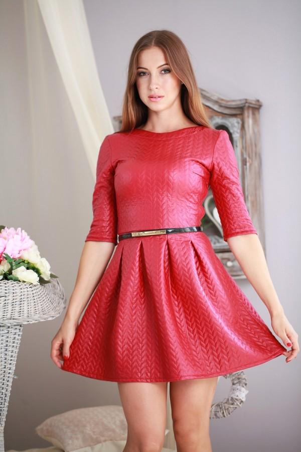 Платье 185 бордовый