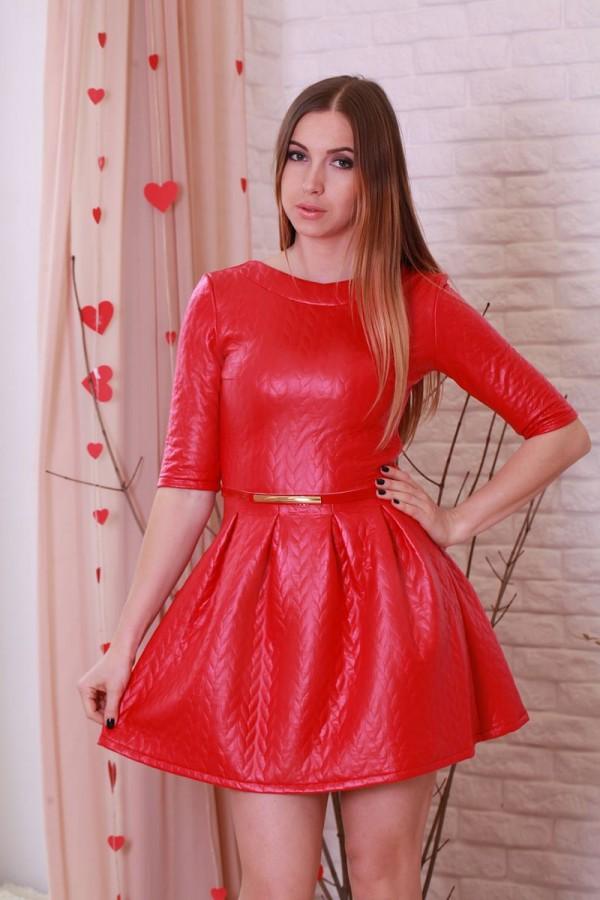 Платье 185 красный