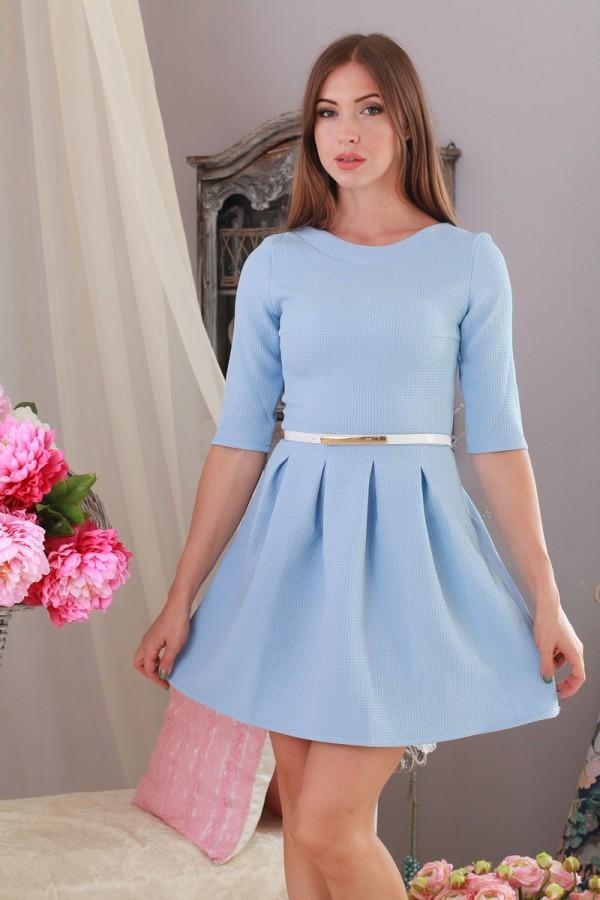 Плаття Мілена 151 блакитний