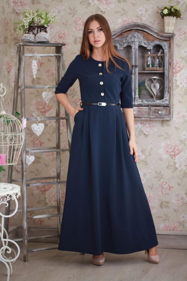 Плаття 188 темно-синій