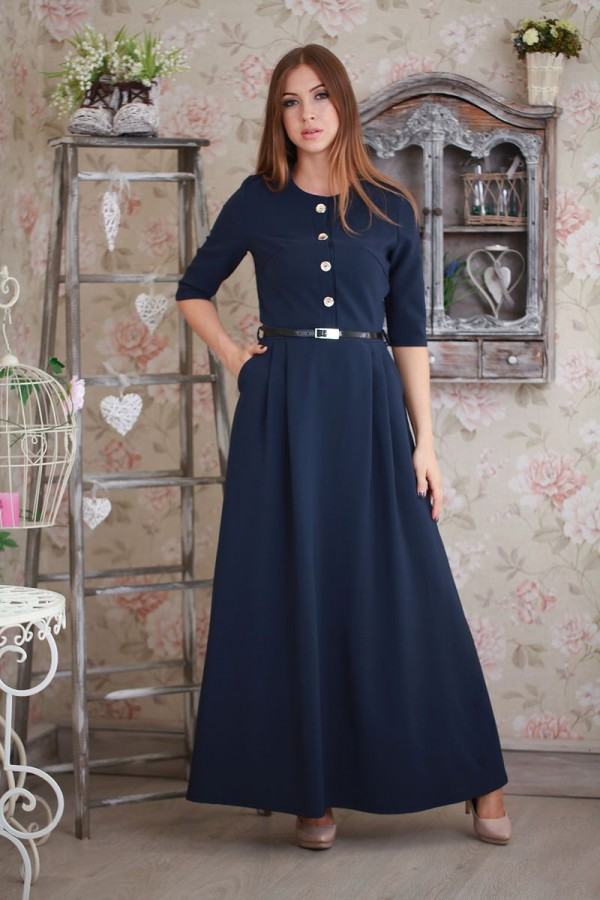 Платье 188 тёмно-синий