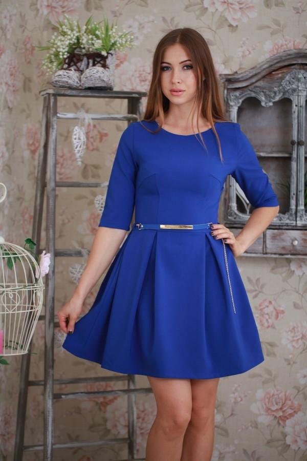 Платье 186 электрик