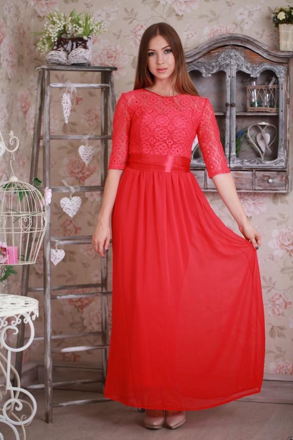 Платье 173 коралл