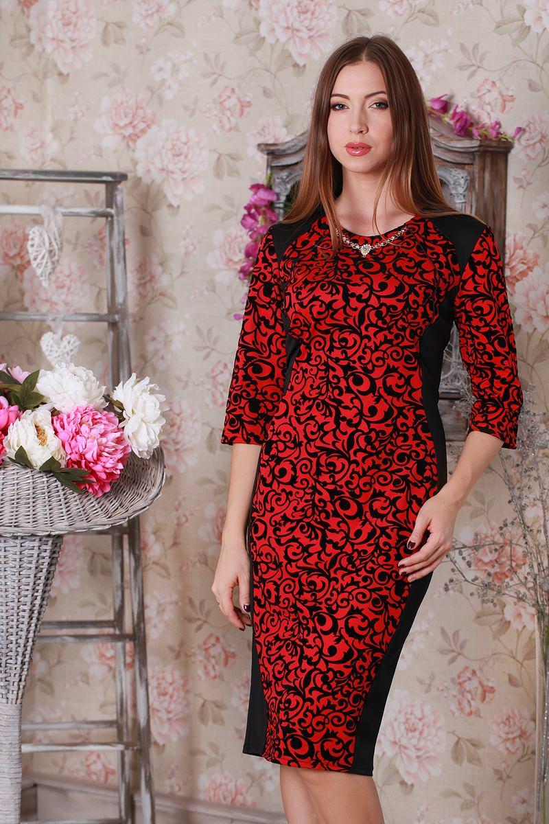 Купити Плаття Ажур 142 червоний   чорний YM14210 недорого (за 378грн ... 506a798cad96f