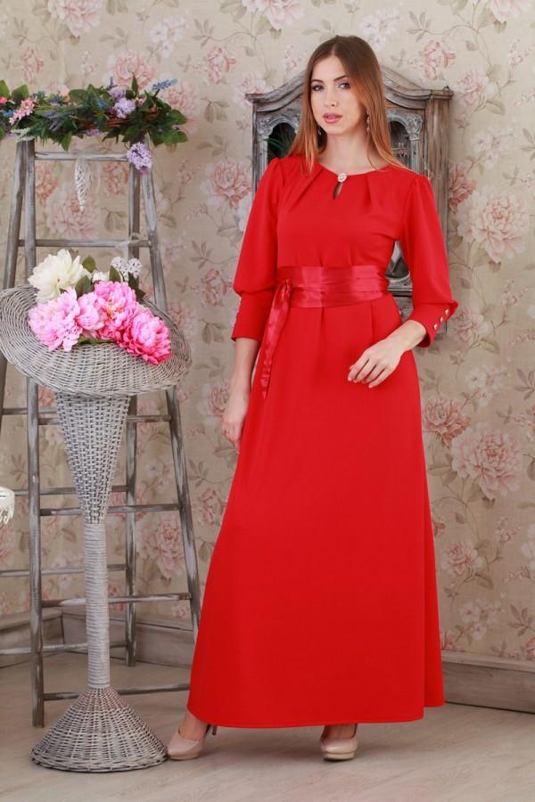 Платье 195 красный