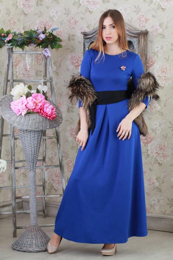 Платье Шарлотта-2 128 электрик