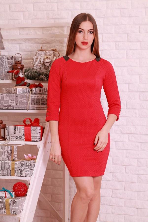 Платье 198 красный