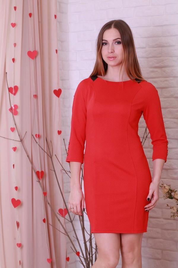 Плаття 198 червоний «цеглинка»