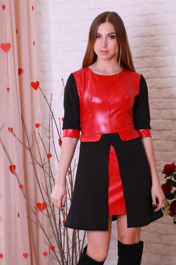 Платье 204 красный