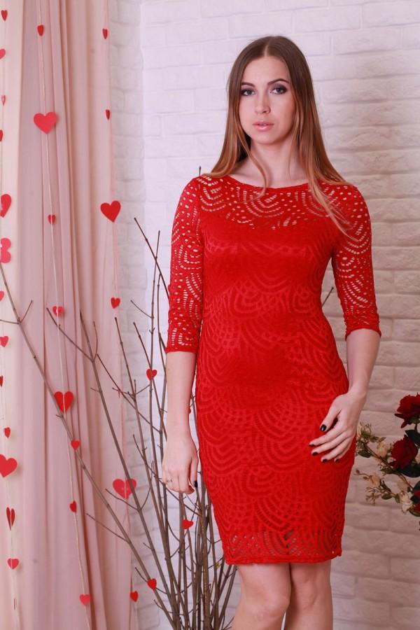 Платье 202 красный