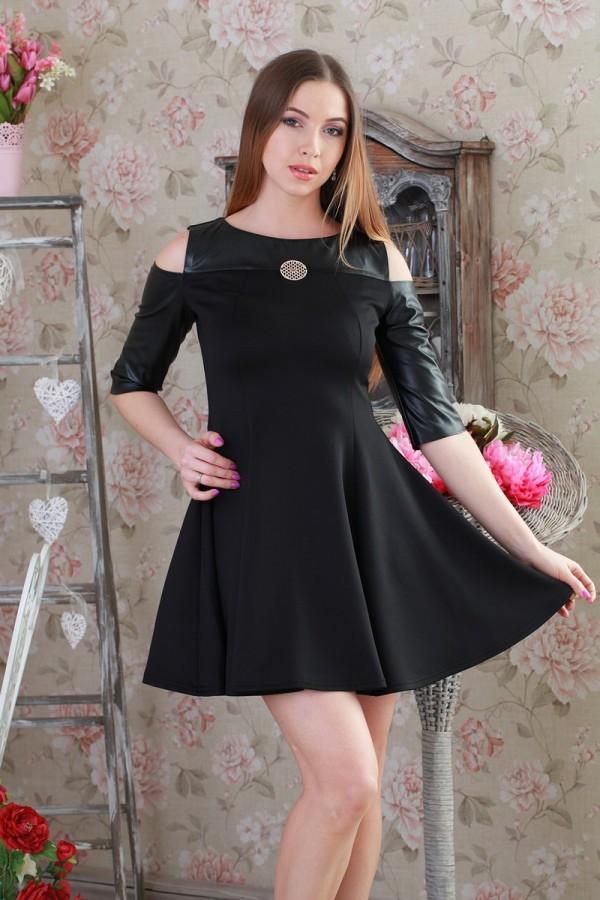 Платье 205 черный