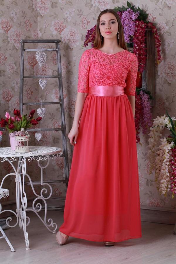 Платье 173 коралл-2