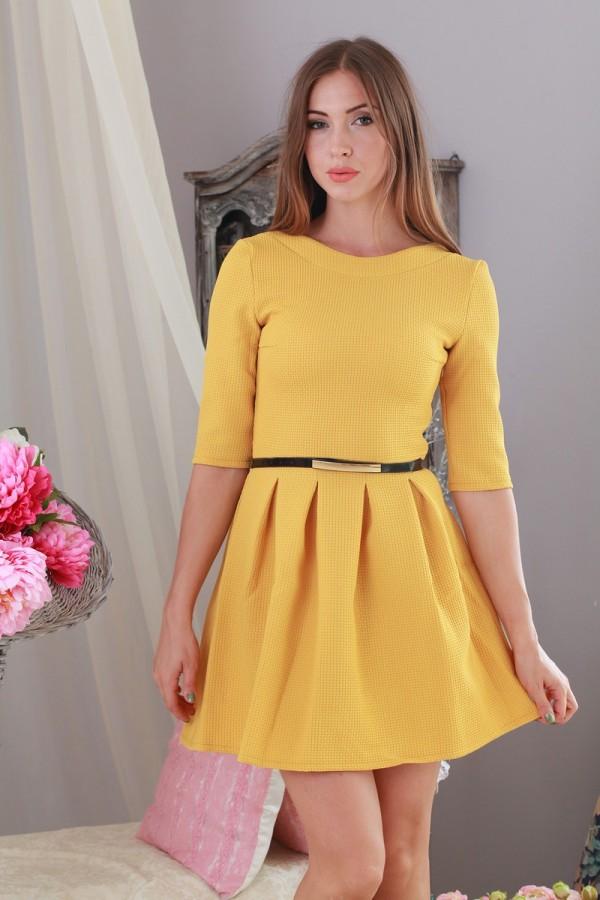 Платье Милена 151 жёлтый
