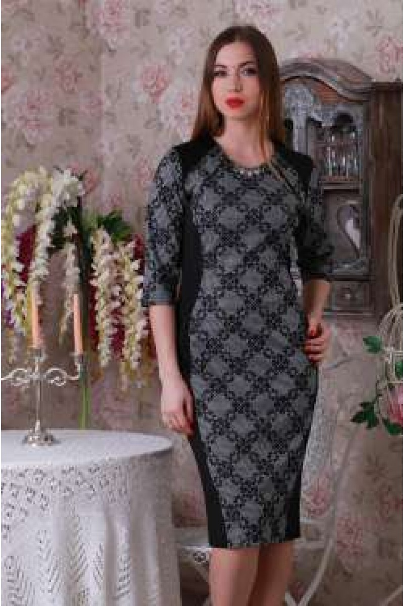 Купити Плаття Ажур 142 сірий   чорний YM14214 недорого (за 378грн ... badc038da6c7f