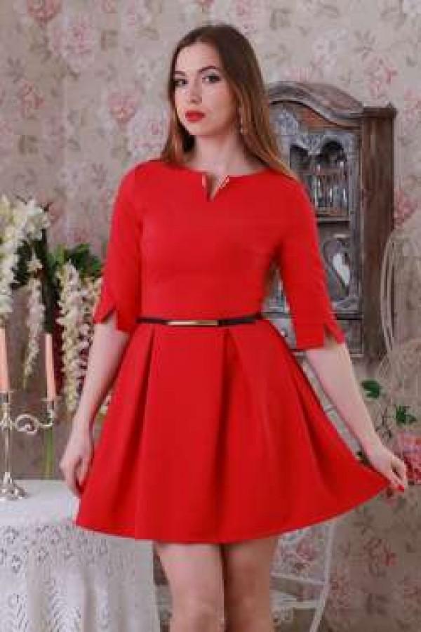 Платье 206 красный