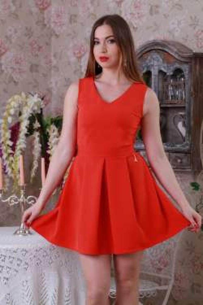 Купити Плаття 211 помаранчевий YM21104 недорого (за 378грн) гуртом ... 5652cf3f5465a