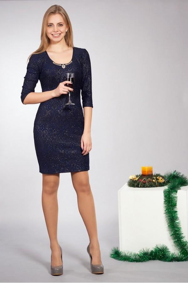 Платье Шери 174 синий
