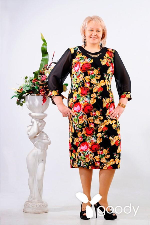 Платье Флая 129 чёрный