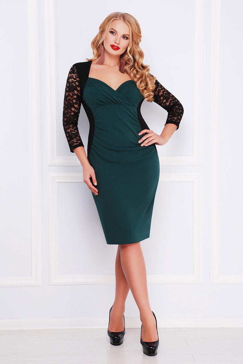 140591a435145e0 Купить платье большого размера 2018 Сусанна GL000301 изумрудное ...