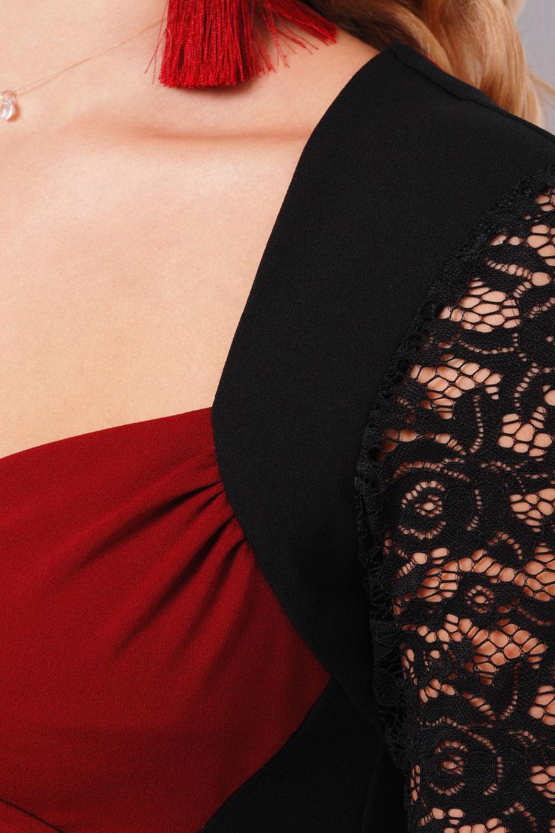 90ced59329116a3 Купить платье большого размера 2018 Сусанна-Б GL000302 бордовое ...