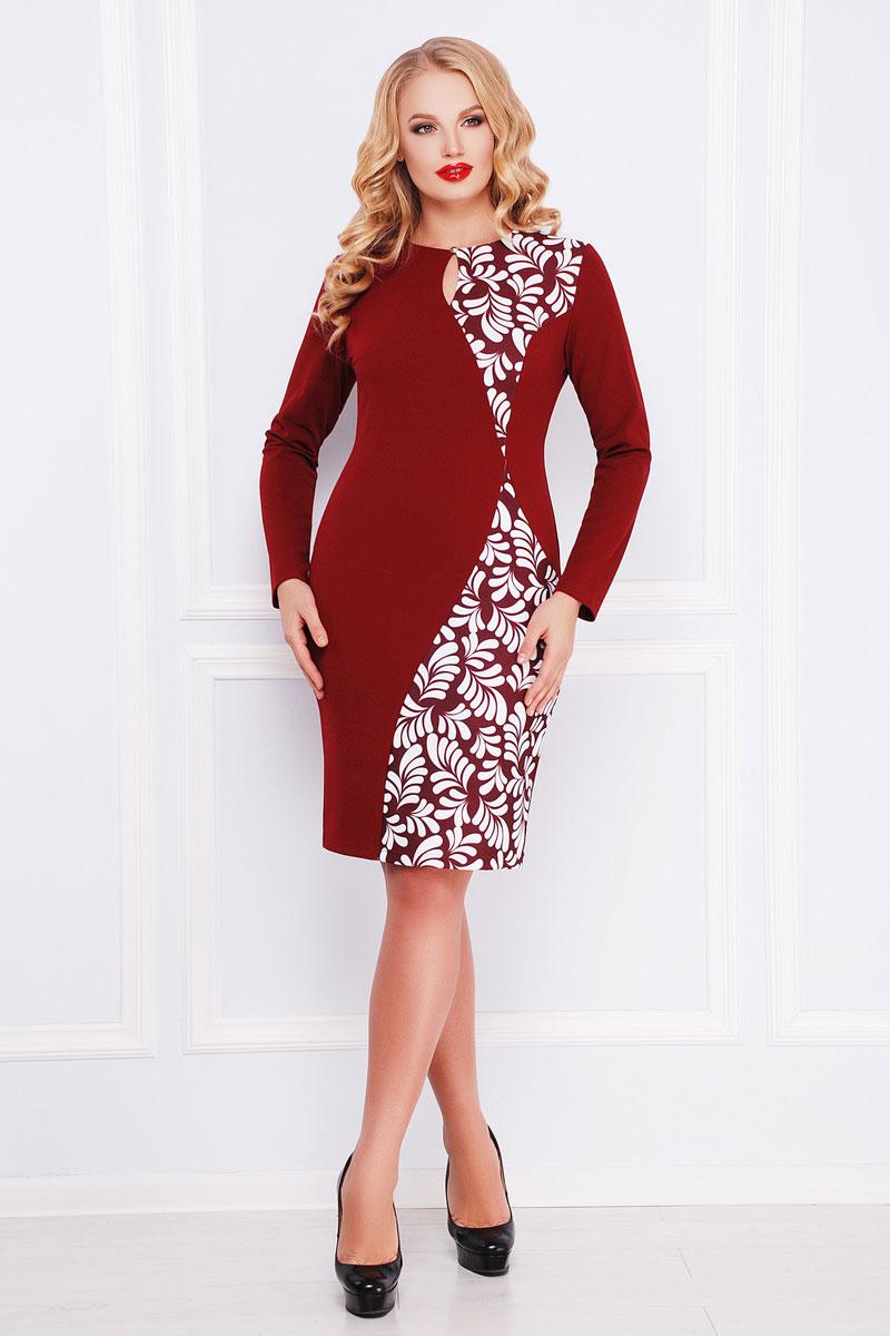 Купити плаття великого розміру 2018 Антоніна-Б GL000602 бордове з ... e557ba8cf4832