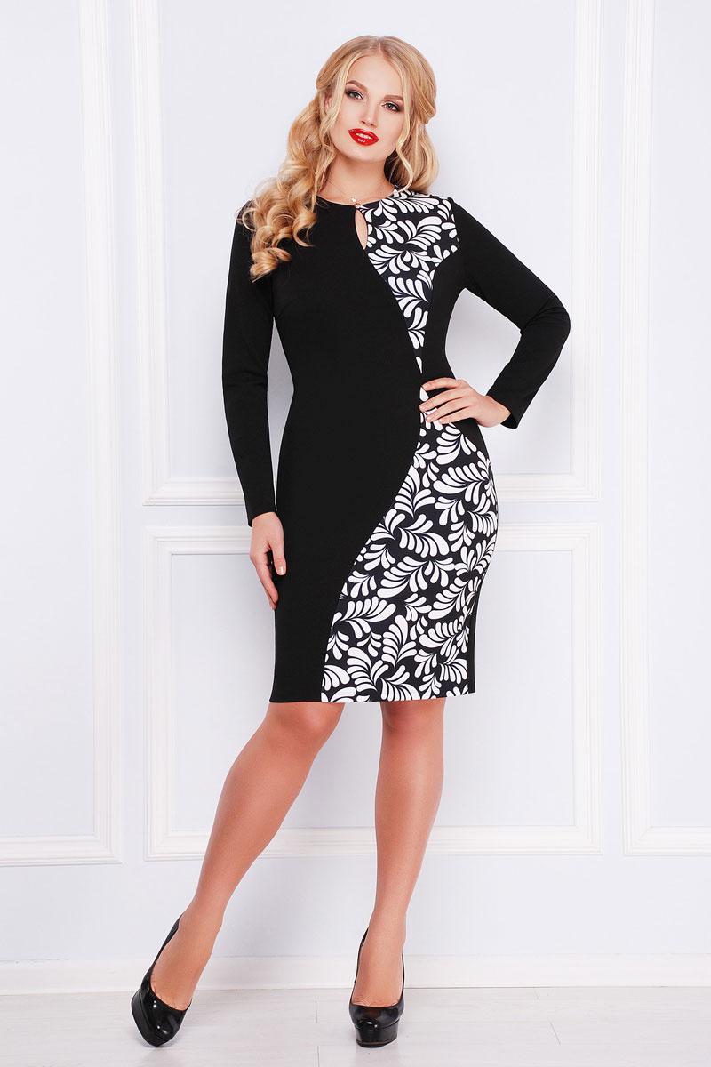 Купити плаття великого розміру 2018 Антоніна-Б GL000601 принтом з ... 008430d310086