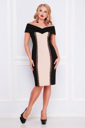 Платье большого размера Аделана беж