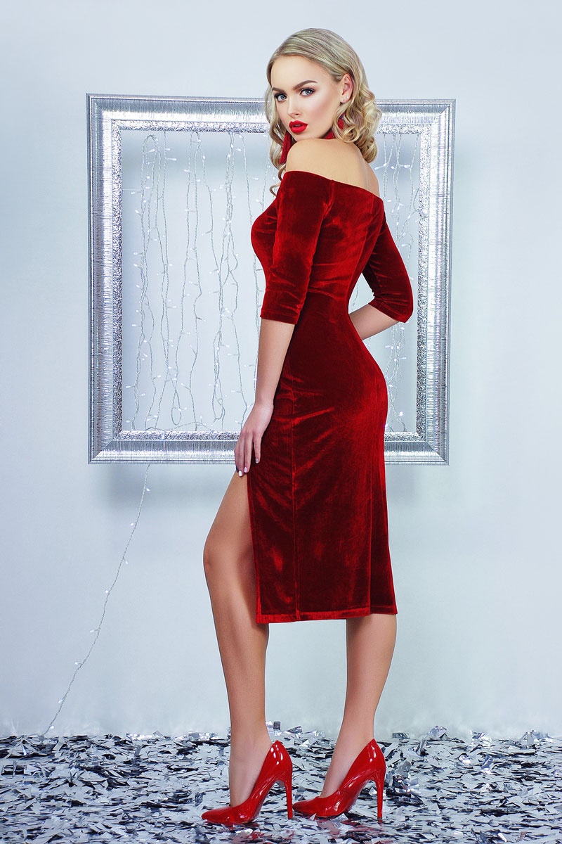 74439e859a0b69 Купити святкове плаття 2018 Анатель GL001303 червоне від виробника з ...