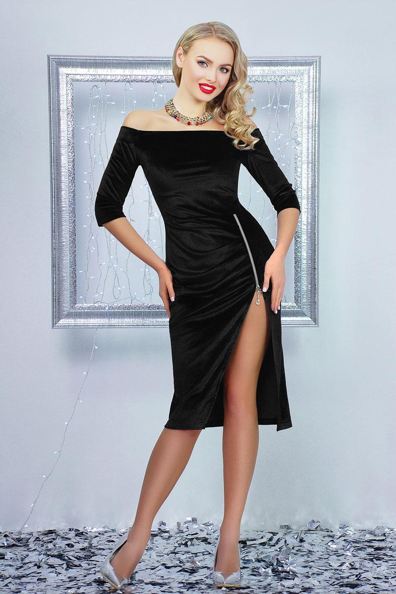1ede13255a6b44 Купити святкове плаття 2018 Анатель GL001304 чорне від виробника з ...
