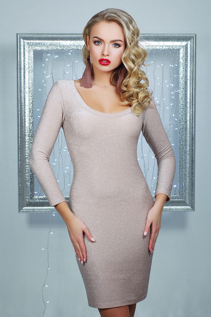 Купити блискуче плаття 2018 Сіяна GL002301 колір пудра від виробника ... b3048395f3157