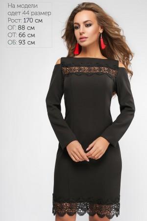 Чорне красиве плаття на новий рік 2018 LP310401 Мадлен