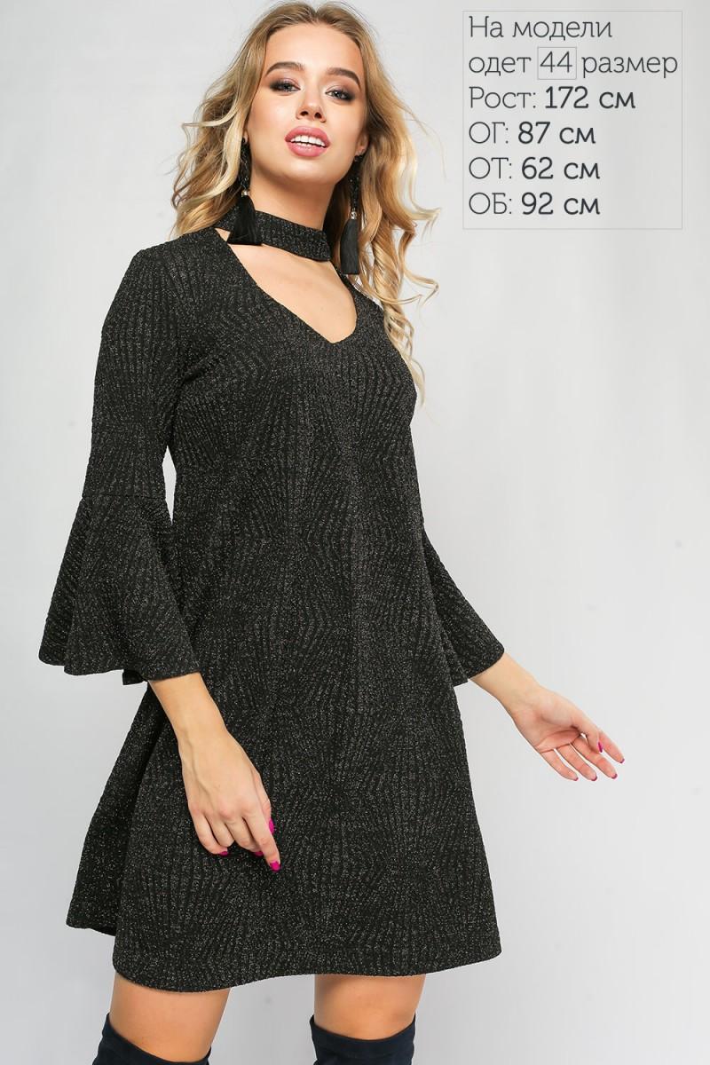 287b46f7e44b Черное новогоднее платье LP315403 Тиффани