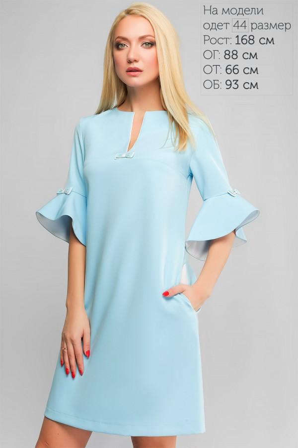 Блакитне розкішне плаття на новий рік 2018 LP317503 Алін