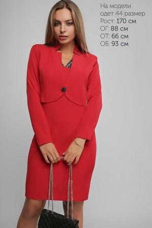 Червоне жіноче плаття з болеро 2018 LP43701 Періс